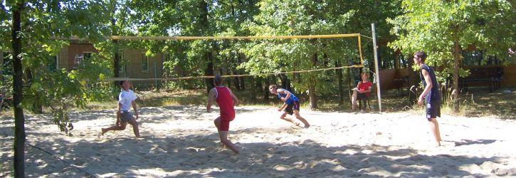 Volleyballfeld im Erlebnisbad